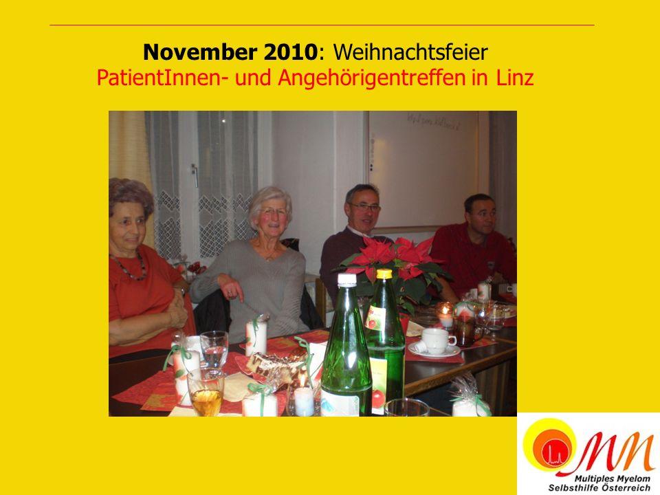 November 2010: Weihnachtsfeier PatientInnen- und Angehörigentreffen in Linz