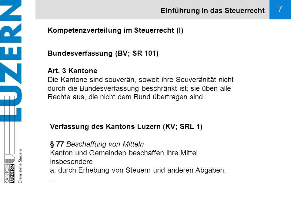 18 DBG / StG Steuerobjekte Einkommensgeneralklausel (Art.