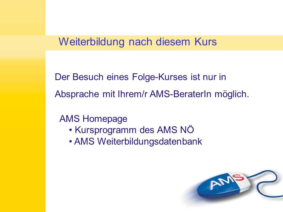 Wenn Sie während des Kurses Vermittlungsvorschläge vom AMS bekommen, wenden Sie sich gerne an die TrainerInnen (uns).