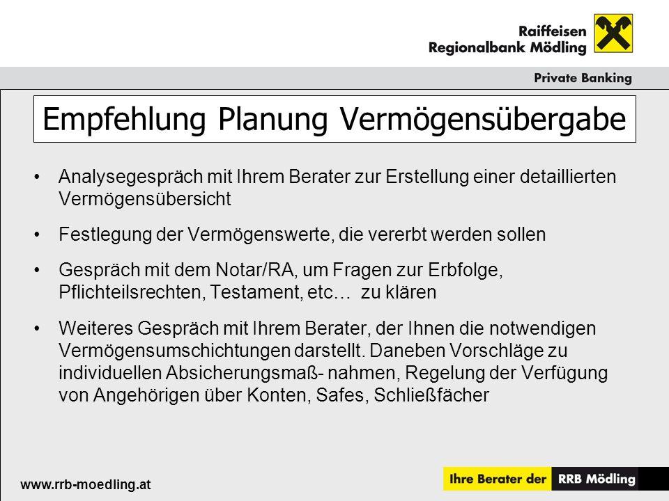 Raiffeisenkasse Guntramsdorf www.rrb-moedling.at Richtig erben und vererben Dr.