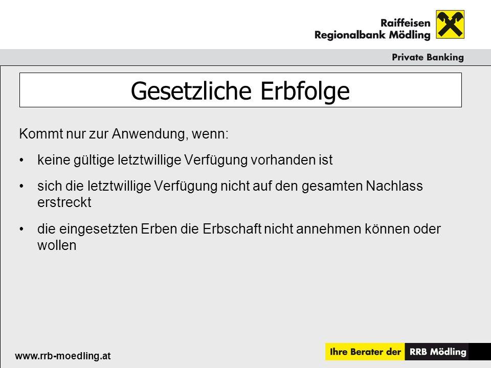 Raiffeisenkasse Guntramsdorf www.rrb-moedling.at Vielen Dank für Ihre Aufmerksamkeit