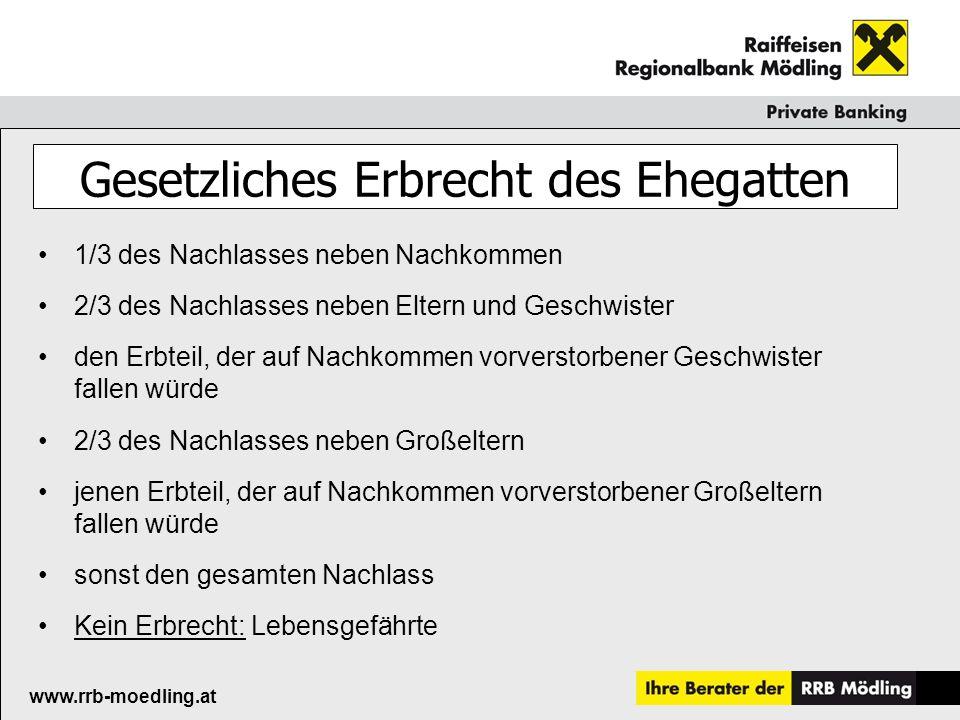 Raiffeisenkasse Guntramsdorf www.rrb-moedling.at Beratungstage Erben&Vererben 14.