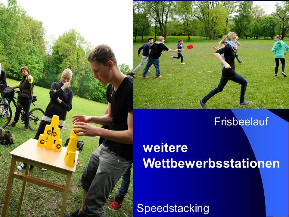 Speedstacking Frisbeelauf weitere Wettbewerbsstationen