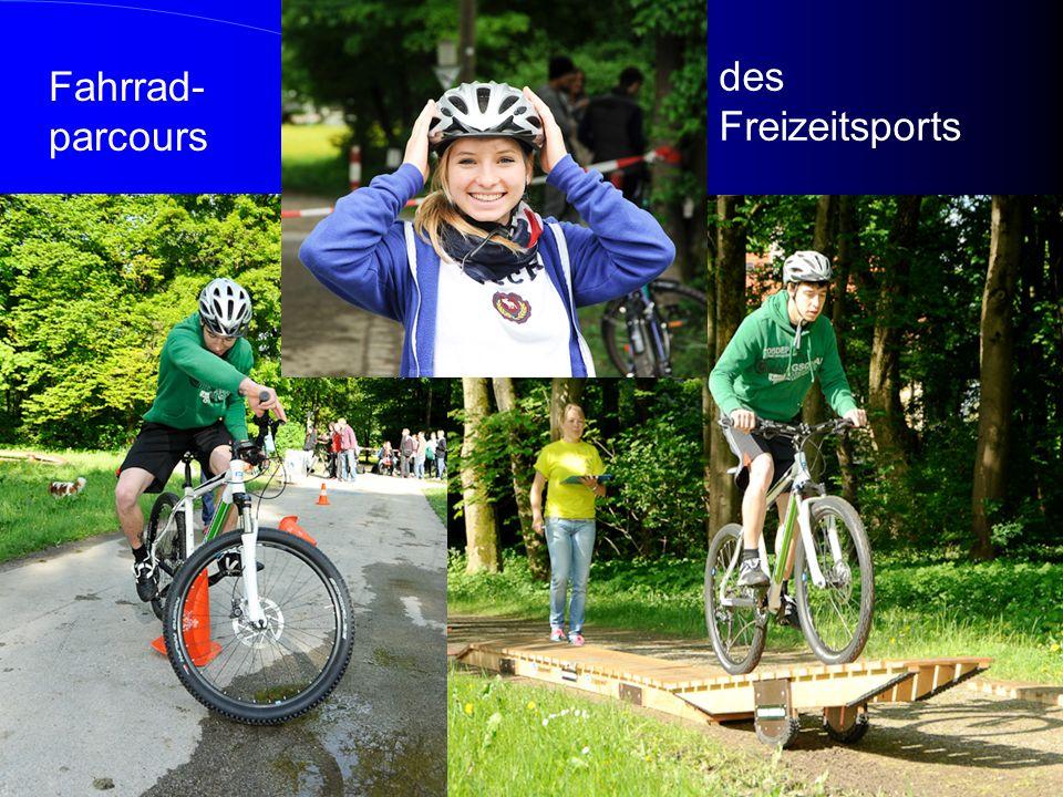 Fahrrad- parcours des Freizeitsports