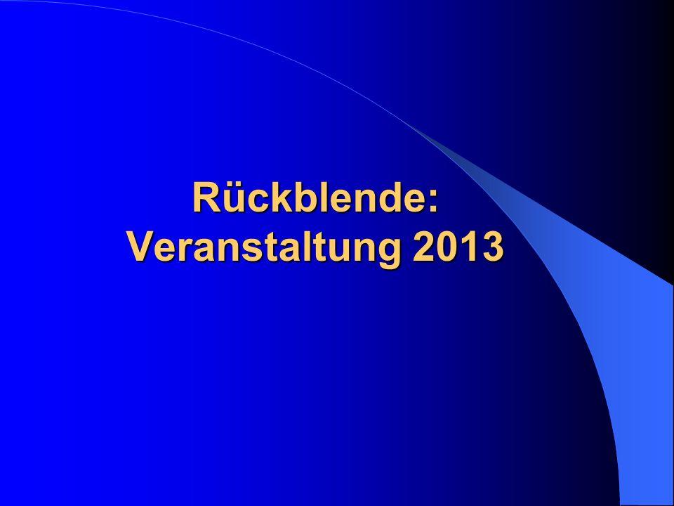 Rückblende: Veranstaltung 2013