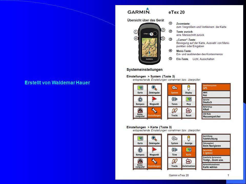 Die Teams erhielten folgende Informationen: Bedienungsanleitung des GPS – Gerätes Kartenausschnitt des Englischen Gartens