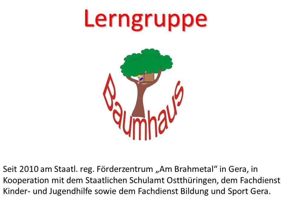 Lerngruppe Seit 2010 am Staatl. reg. Förderzentrum Am Brahmetal in Gera, in Kooperation mit dem Staatlichen Schulamt Ostthüringen, dem Fachdienst Kind