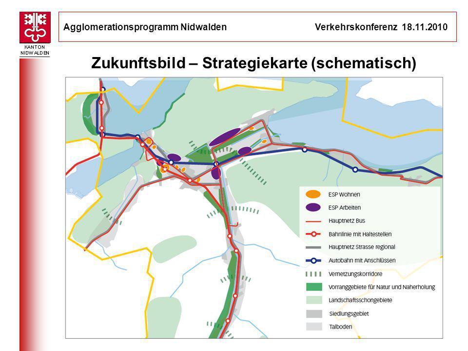 Agglomerationsprogramm Nidwalden Verkehrskonferenz 18.11.2010 7 Zukunftsbild – Strategiekarte (schematisch) __________________________________