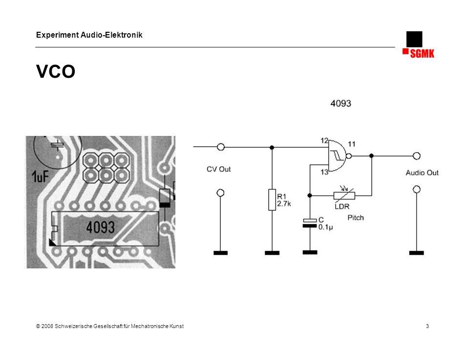 Experiment Audio-Elektronik © 2008 Schweizerische Gesellschaft für Mechatronische Kunst 4 Grundschaltungen Teil 2 1.Oszillatorschaltungen 2.Transistor-Verstärker 3.Spannungsversorgung