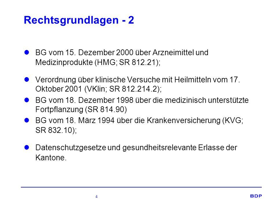 4 Rechtsgrundlagen - 2 BG vom 15.