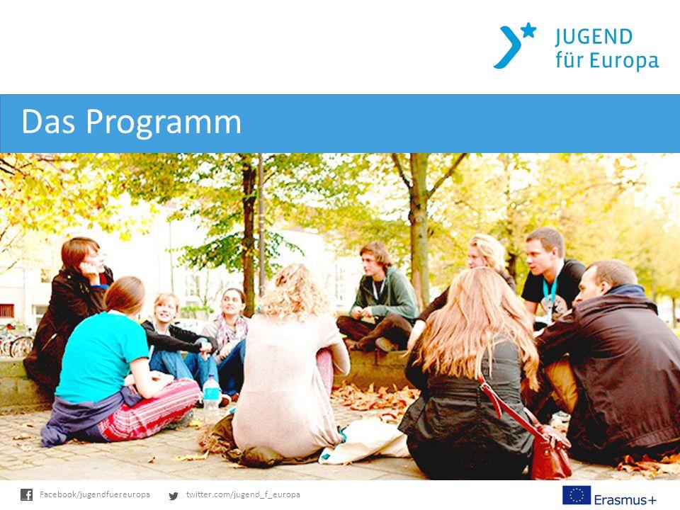 twitter.com/jugend_f_europaFacebook/jugendfuereuropa Das Programm