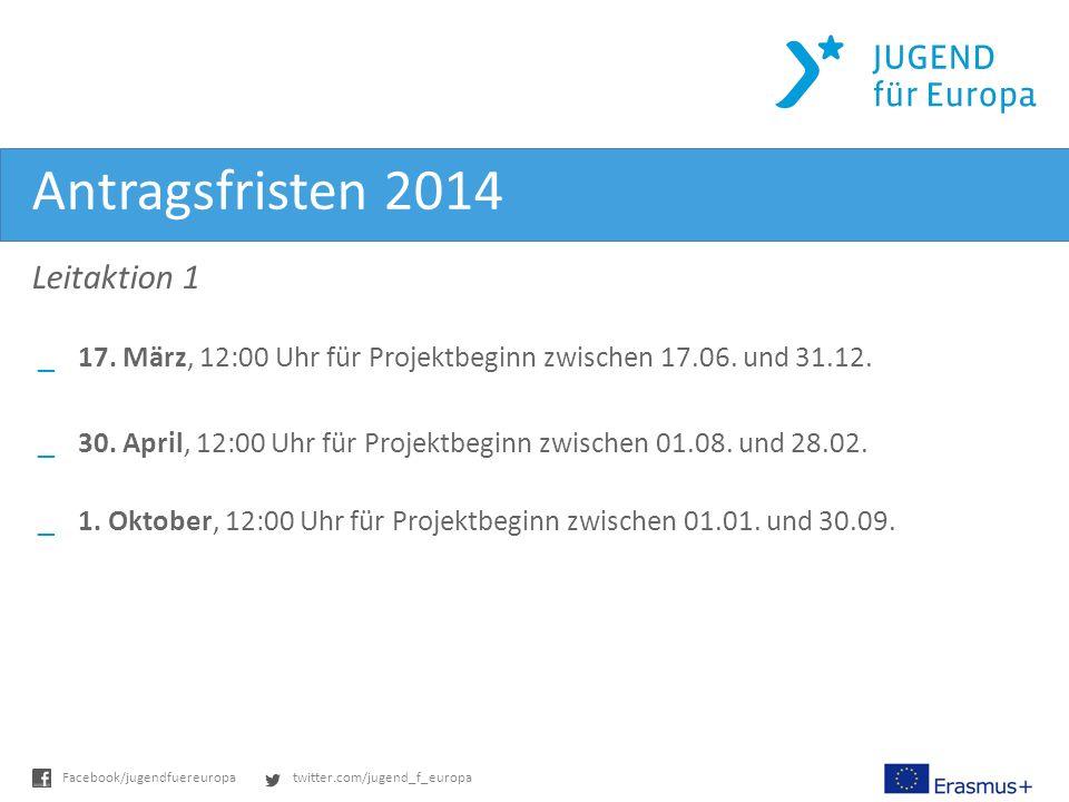 twitter.com/jugend_f_europaFacebook/jugendfuereuropa Antragsfristen 2014 Leitaktion 1 _17.