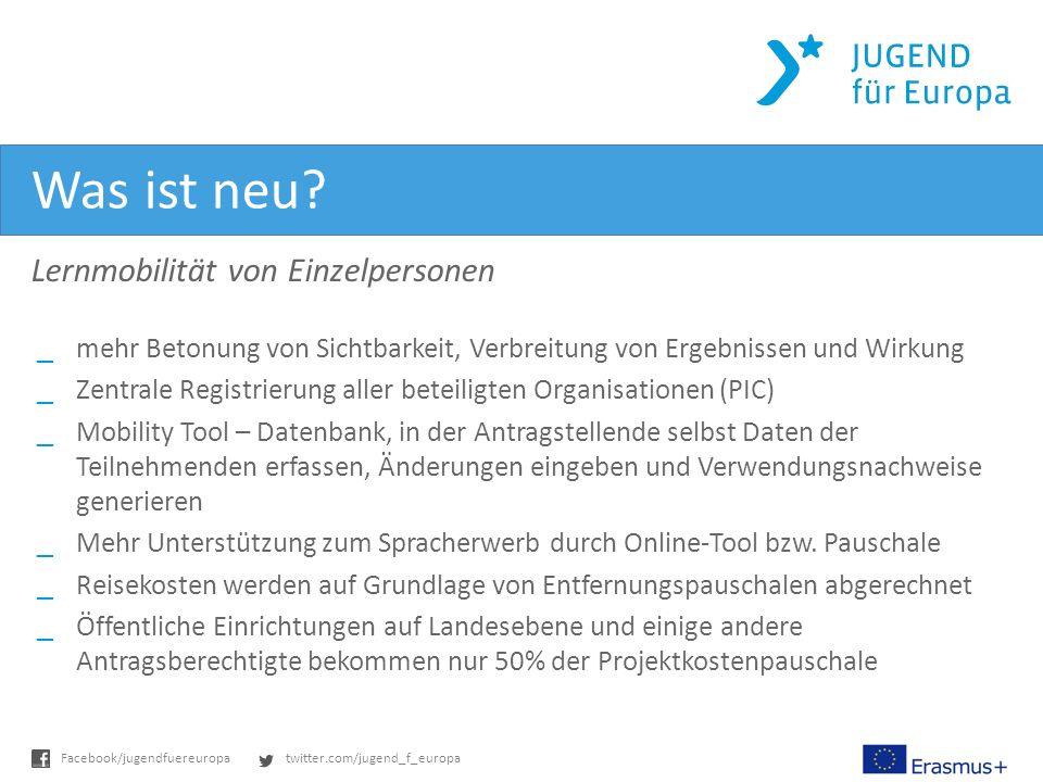 twitter.com/jugend_f_europaFacebook/jugendfuereuropa Was ist neu.