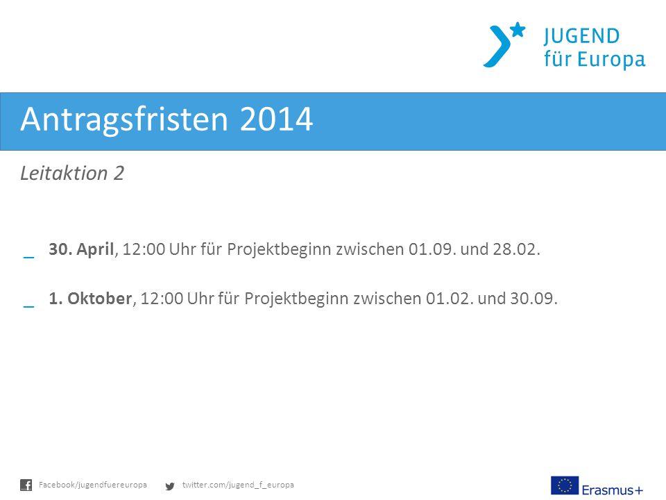 twitter.com/jugend_f_europaFacebook/jugendfuereuropa Antragsfristen 2014 Leitaktion 2 _30.
