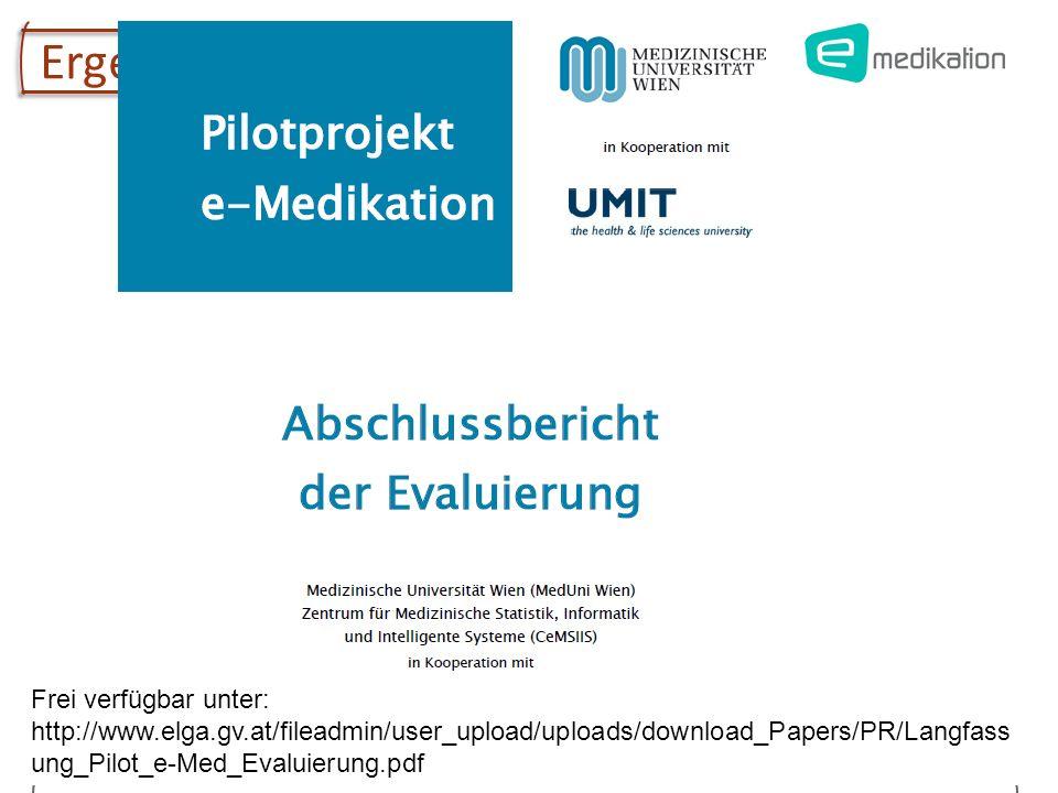 Univ.-Prof. Dr. Elske Ammenwerth Institute of Health Informatics, UMIT 17 Ergebnisse der Evaluation Frei verfügbar unter: http://www.elga.gv.at/filead