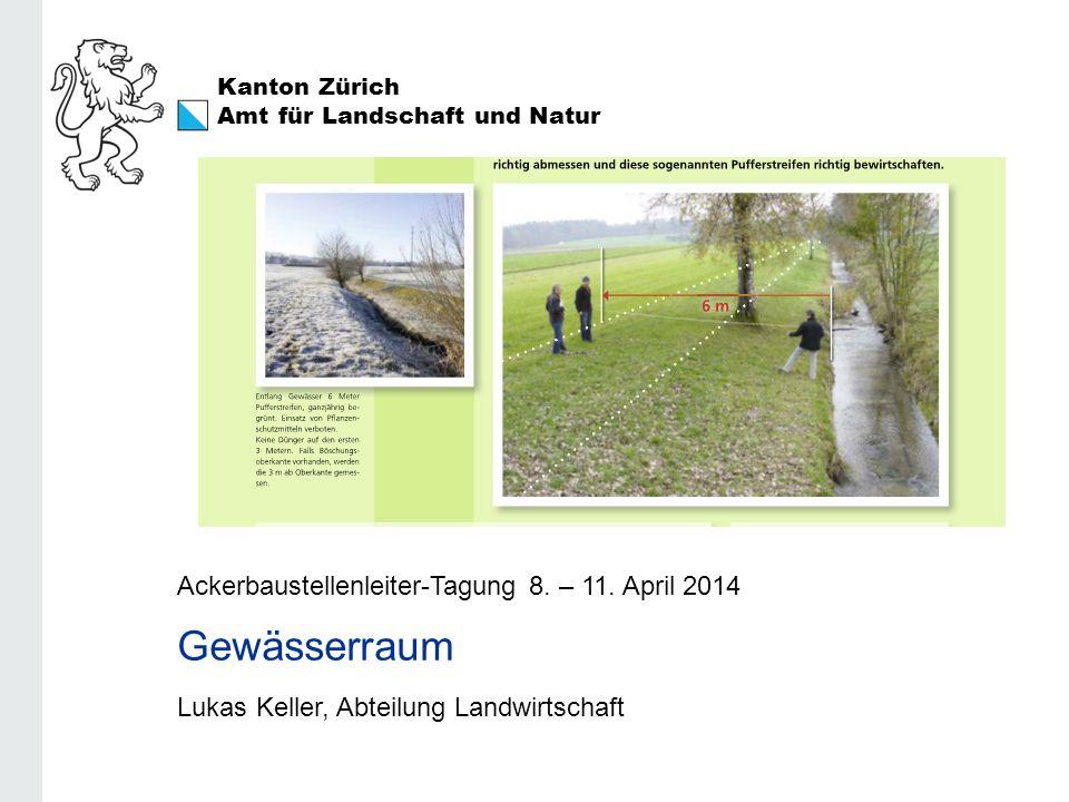 Amt für Landschaft und Natur REB / GMF / Extenso Lukas Keller Gewässerraum (Pufferstreifen) DZV: Art.