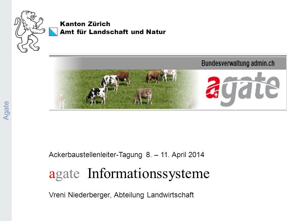 Kanton Zürich Amt für Landschaft und Natur Agate Ackerbaustellenleiter-Tagung 8.