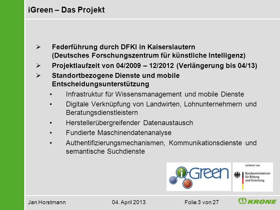 iGreen realisiert herstellerübergreifende Lösungen Jan Horstmann 04.