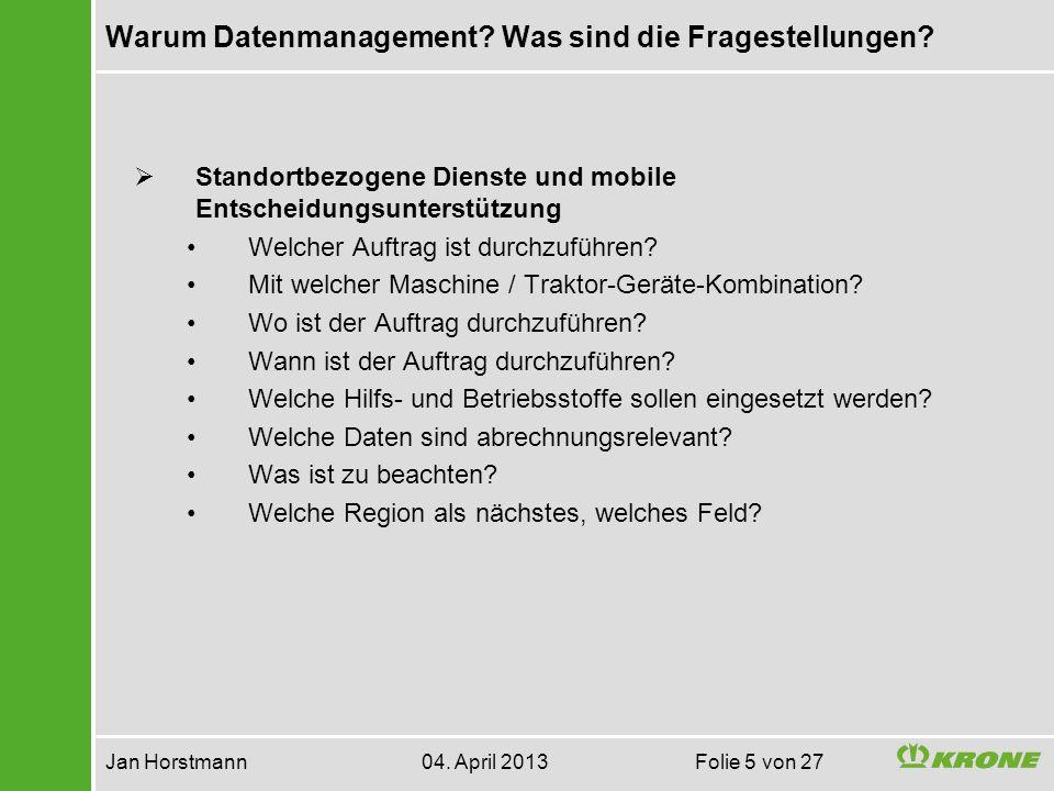 Flächen und Aufträge Jan Horstmann 04.