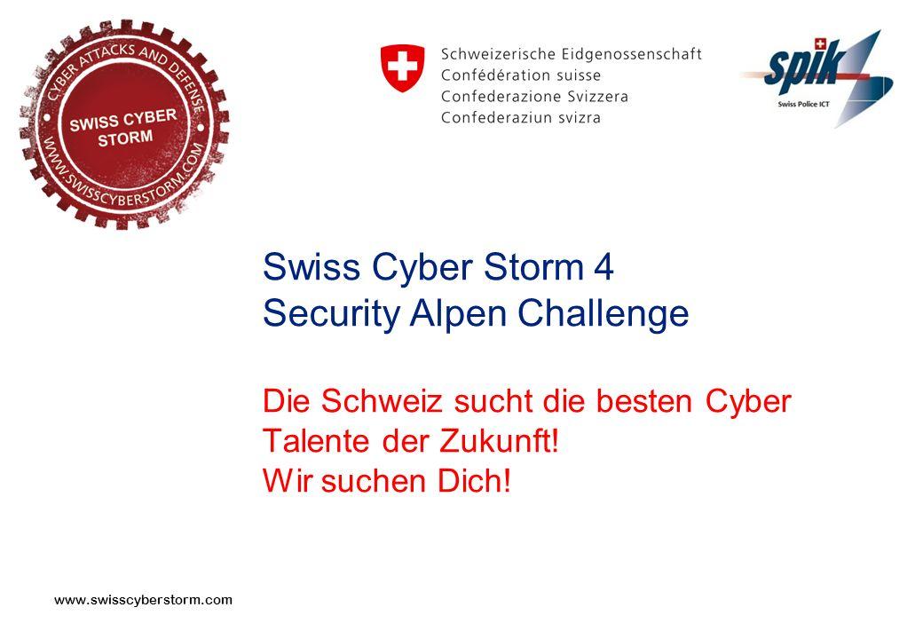 Swiss Cyber Storm 4 Security Alpen Challenge Die Schweiz sucht die besten Cyber Talente der Zukunft.