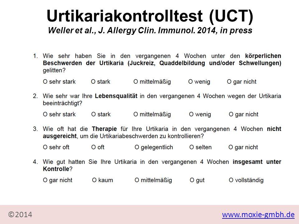 www.moxie-gmbh.de©2014 Urtikariakontrolltest (UCT) Weller et al., J.