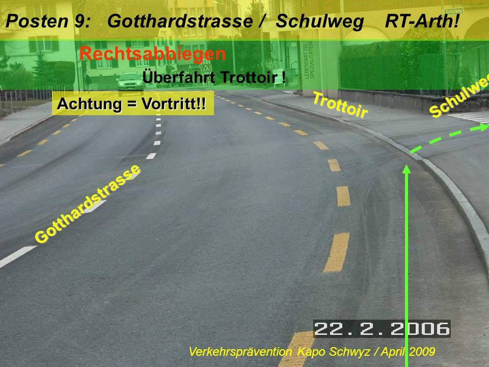 Rechtsabbiegen RT-Arth.