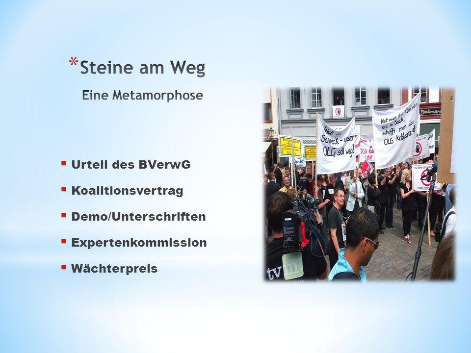 Urteil des BVerwG Koalitionsvertrag Demo/Unterschriften Expertenkommission Wächterpreis