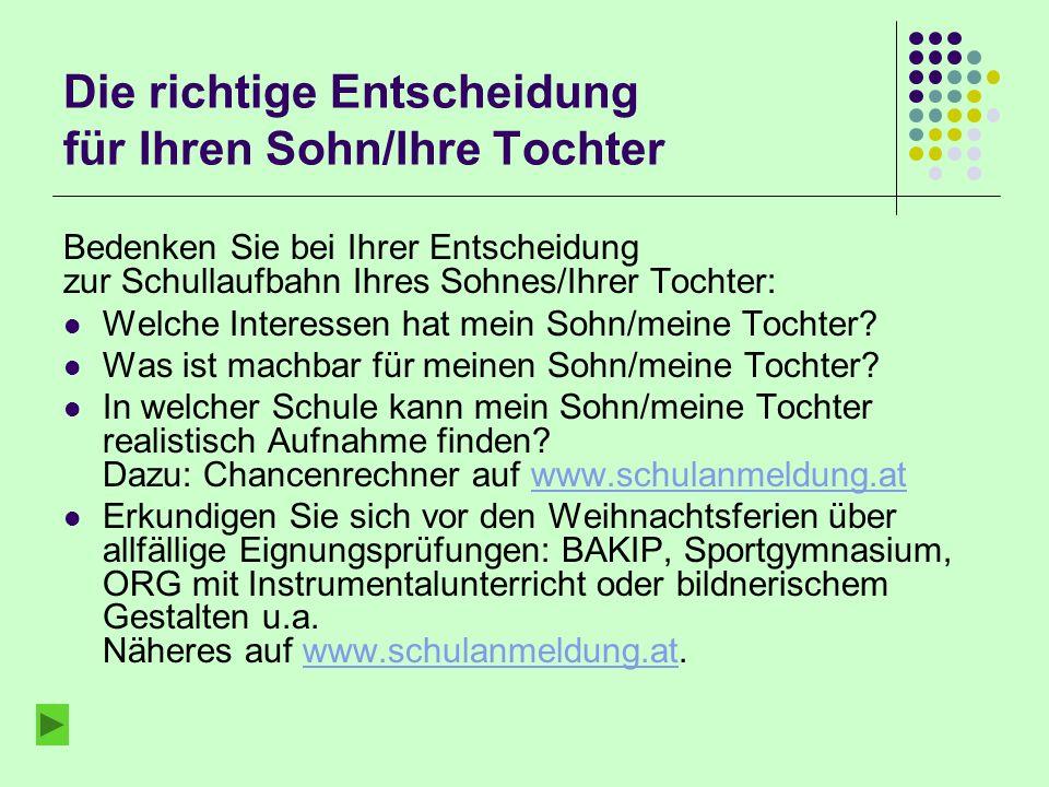 Aufnahme an weiterführenden Schulen im Schuljahr 2013/14 Nach der 4. Klasse der Nach der 4. Klasse Hauptschule 12.9.2012