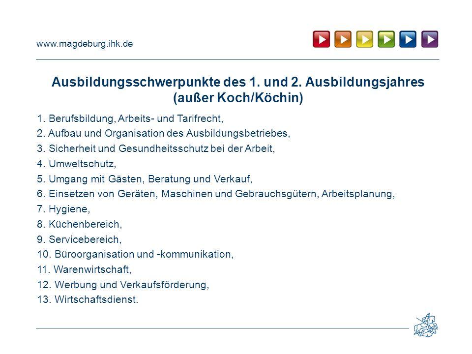 www.magdeburg.ihk.de Ausbildungsschwerpunkte des 1.