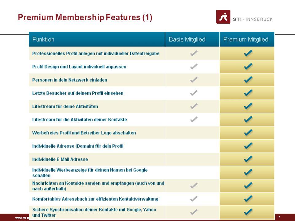 www.sti-innsbruck.at Premium Membership Features (2) 8