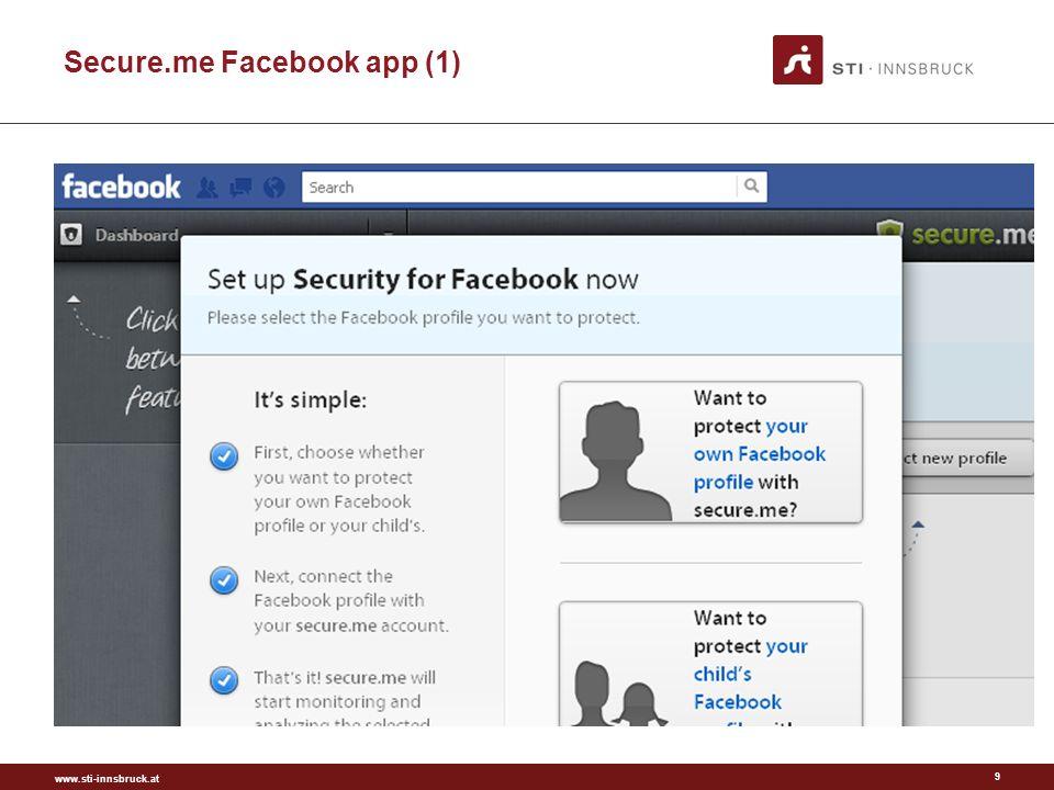 www.sti-innsbruck.at Secure.me Facebook App (2) 10