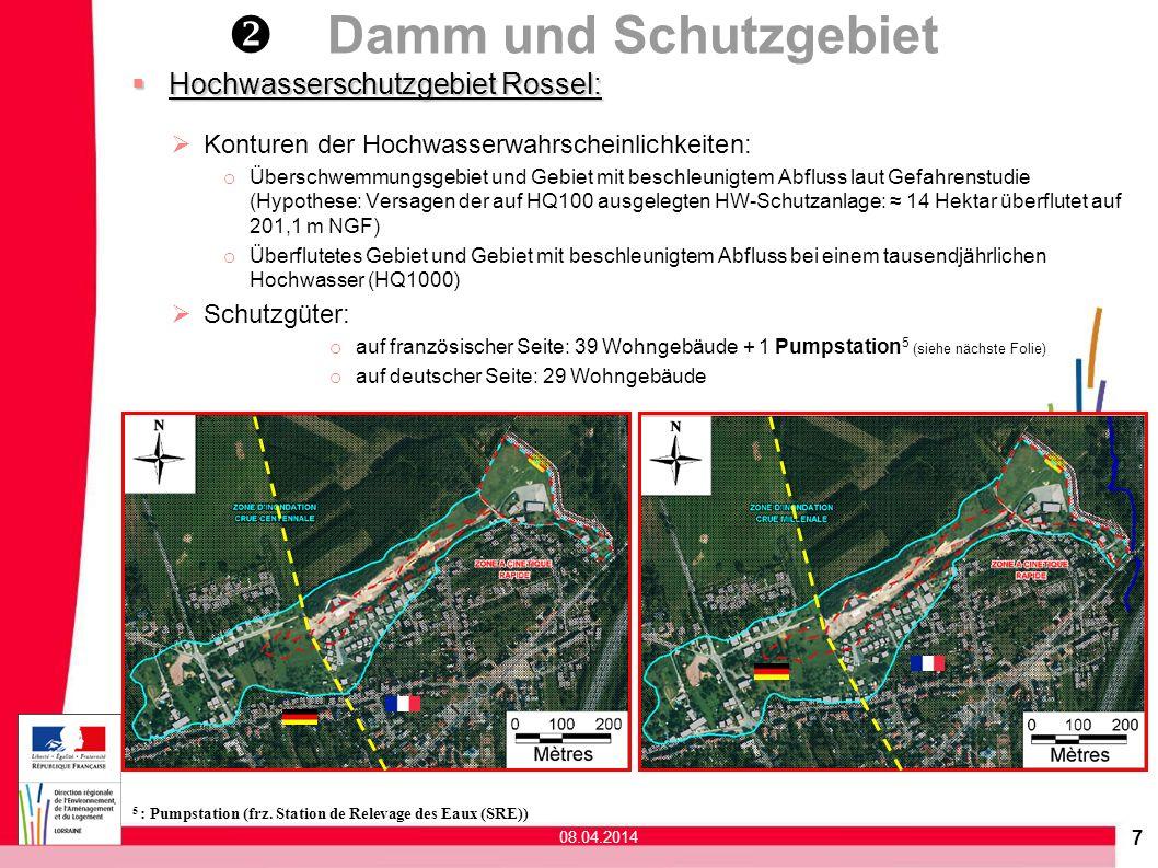 7 Hochwasserschutzgebiet Rossel: Hochwasserschutzgebiet Rossel: Konturen der Hochwasserwahrscheinlichkeiten: o Überschwemmungsgebiet und Gebiet mit be