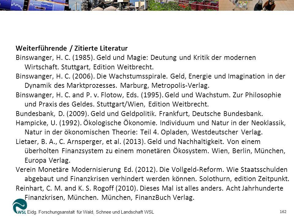 Weiterführende / Zitierte Literatur Binswanger, H.