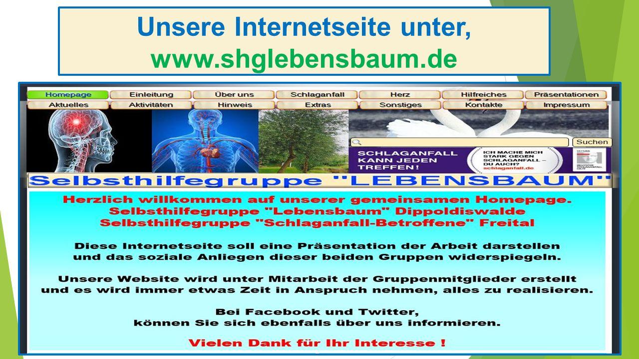 Unsere Internetseite unter, www.shglebensbaum.de
