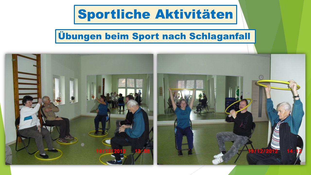 Sportliche Aktivitäten Übungen beim Sport nach Schlaganfall
