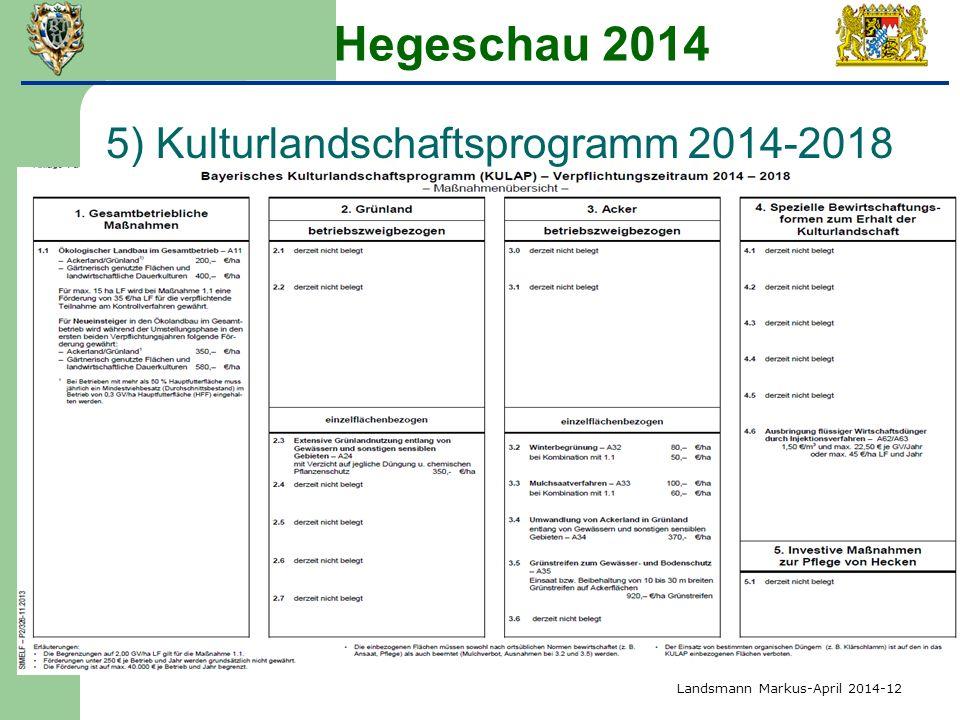 Hegeschau 2014 5) Kulturlandschaftsprogramm 2014-2018 Landsmann Markus-April 2014-12