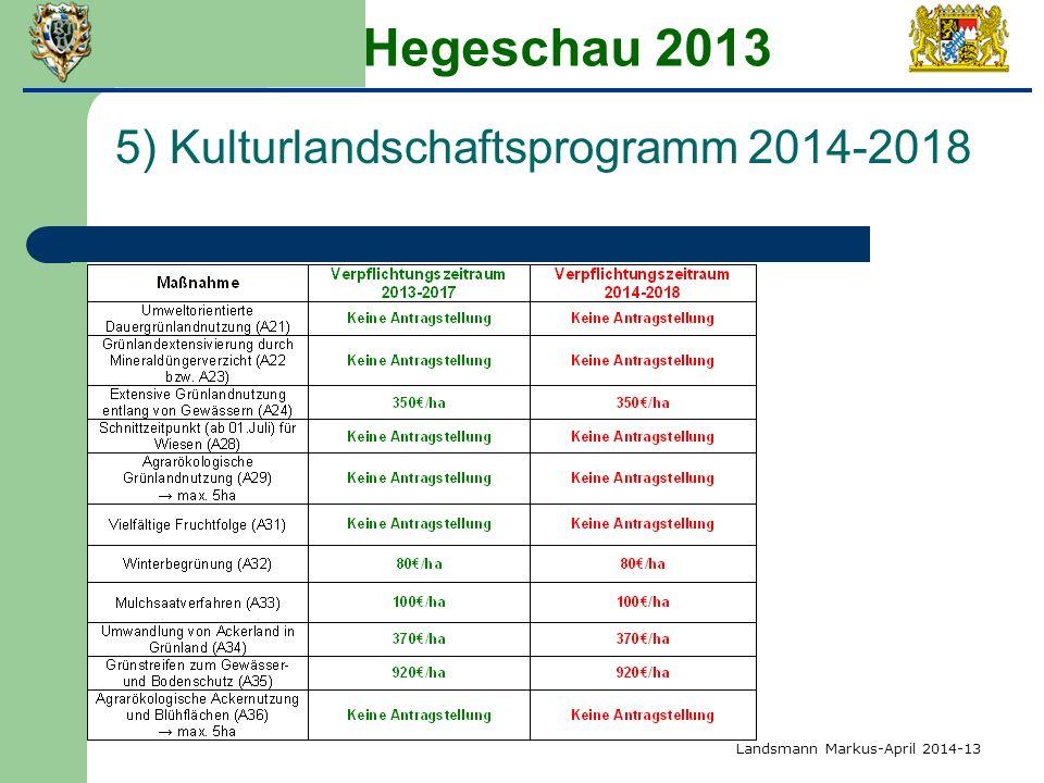 Hegeschau 2013 5) Kulturlandschaftsprogramm 2014-2018 Landsmann Markus-April 2014-13