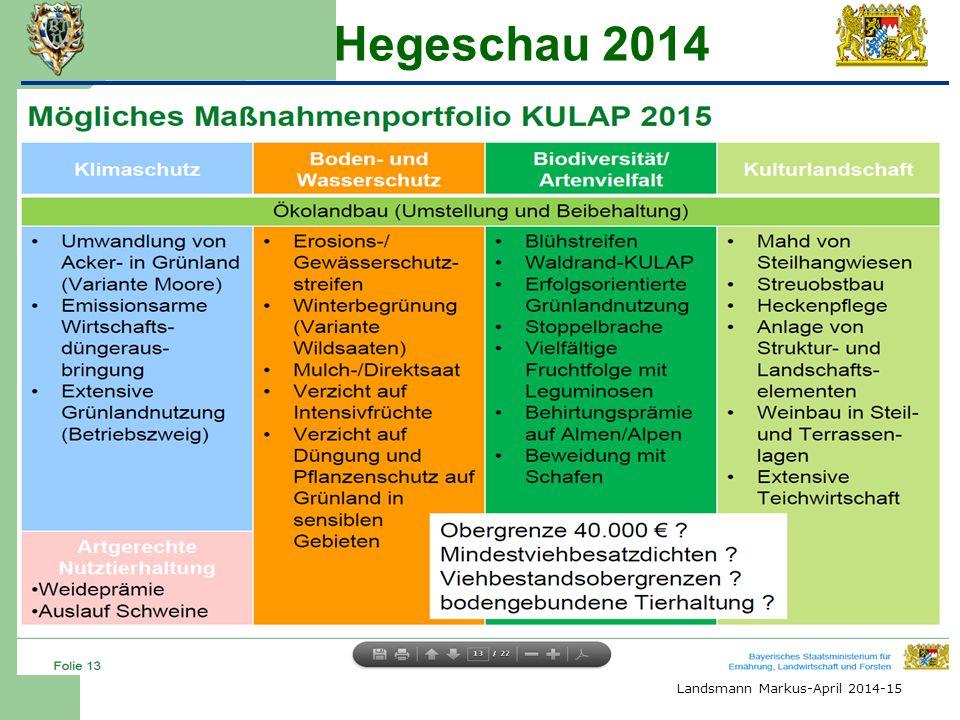 Hegeschau 2014 4) Kulturlandschaftsprogramm 2014-2018 Landsmann Markus-April 2014-15