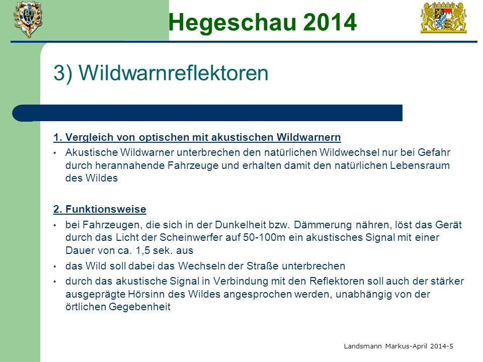 Hegeschau 2014 3) Wildwarnreflektoren 1.