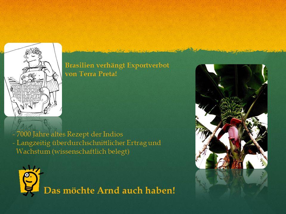 Brasilien verhängt Exportverbot von Terra Preta! - 7000 Jahre altes Rezept der Indios - Langzeitig überdurchschnittlicher Ertrag und Wachstum (wissens