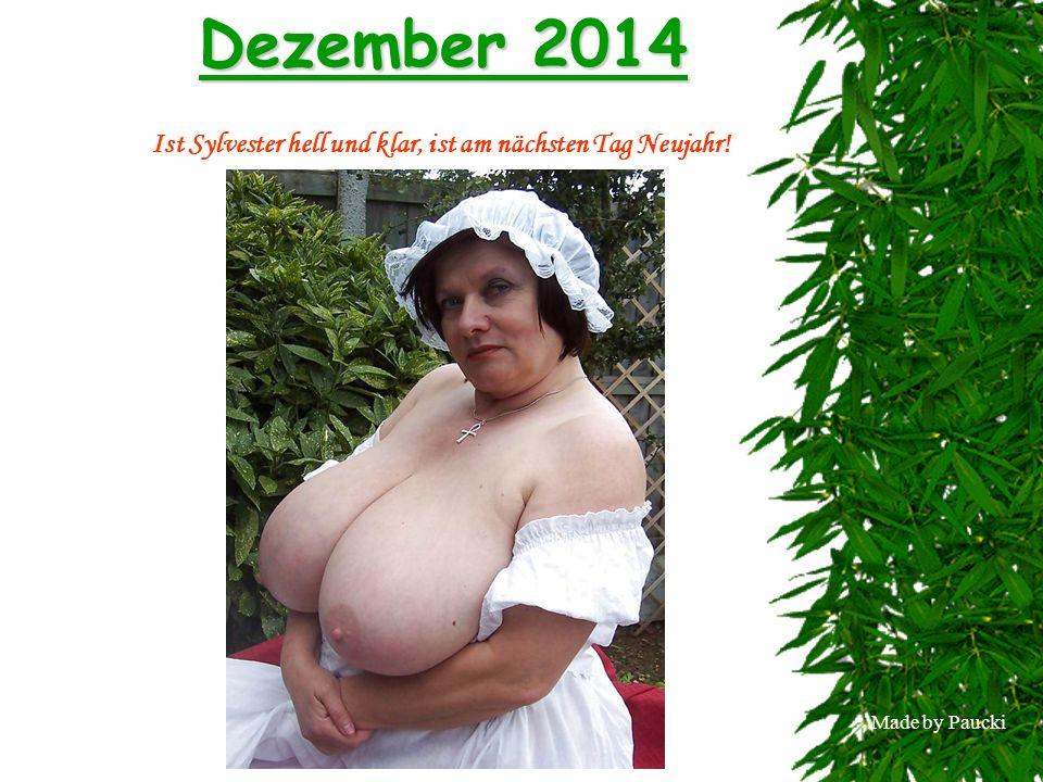 Made by Paucki Dezember 2014 Ist Sylvester hell und klar, ist am nächsten Tag Neujahr!