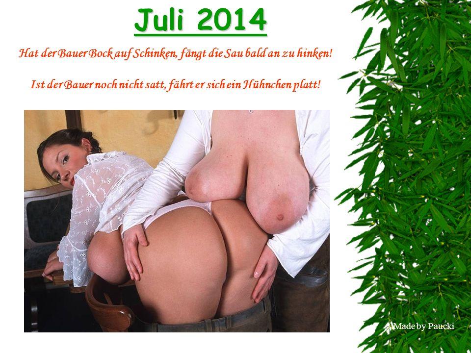Made by Paucki August 2014 Soll die Kälbermast sich lohnen, greift der Bauer zu Hormonen!