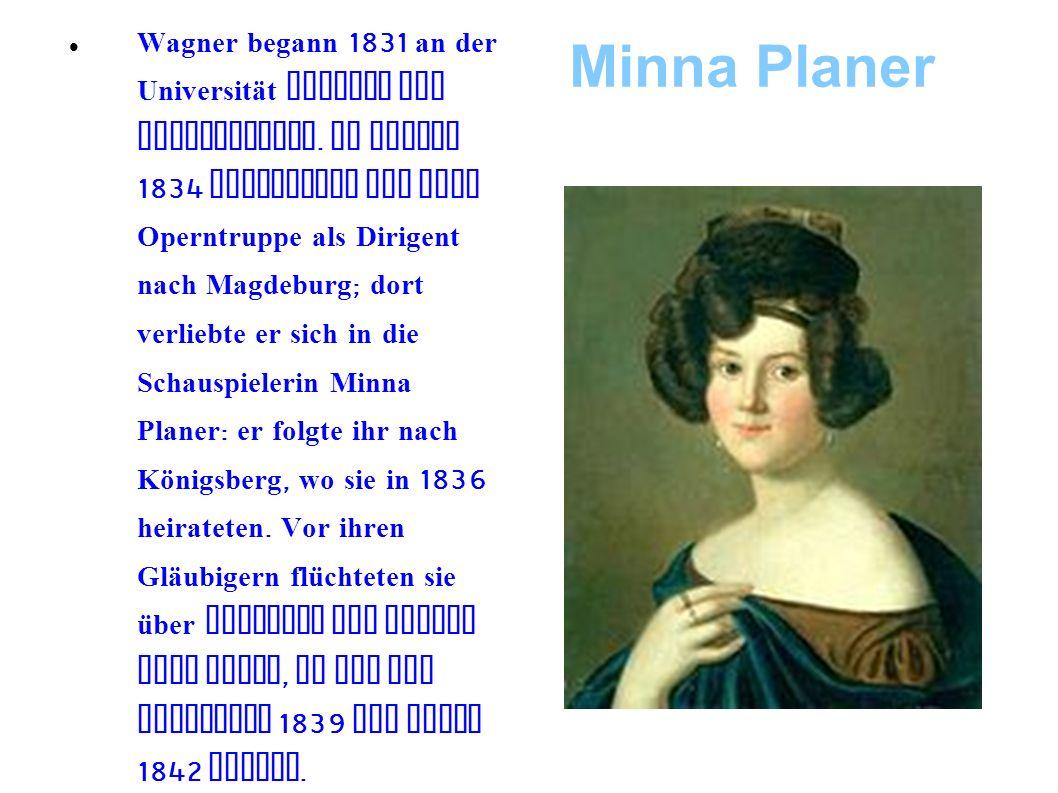 Hofdirigent 1843 wird Wagner genannter Hofdirigent.