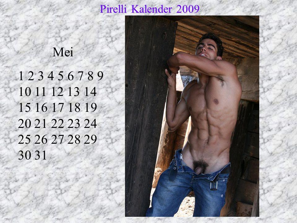 Mei 1 2 3 4 5 6 7 8 9 10 11 12 13 14 15 16 17 18 19 20 21 22 23 24 25 26 27 28 29 30 31 Pirelli Kalender 2009 Pirelli Kalender 2009