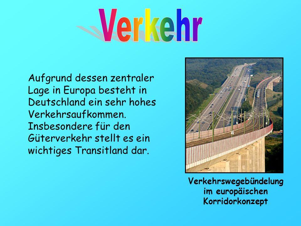Aufgrund dessen zentraler Lage in Europa besteht in Deutschland ein sehr hohes Verkehrsaufkommen. Insbesondere für den Güterverkehr stellt es ein wich