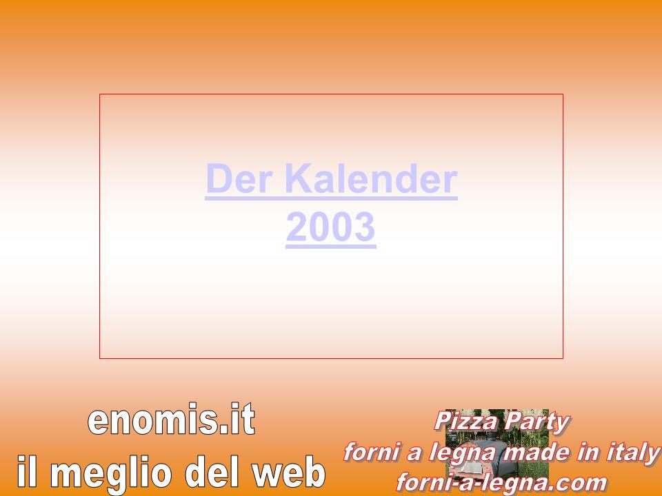 Der Kalender 2003