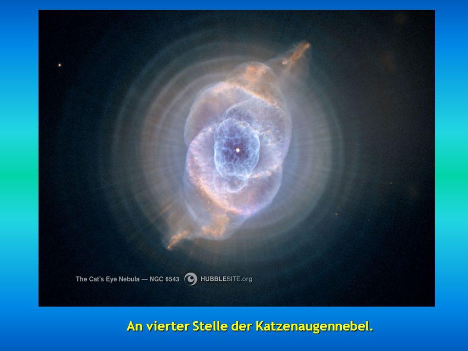 Hier ist der Eskimonebel in 5000 Lichtjahre.