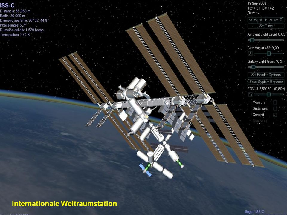 Das Hubble Teleskop befindet sich ausserhalb unserer Atmosphäre und umkreist die Erde 593 km über dem Meeresspiegel in einer Erdumlaufzeit von ca. 96