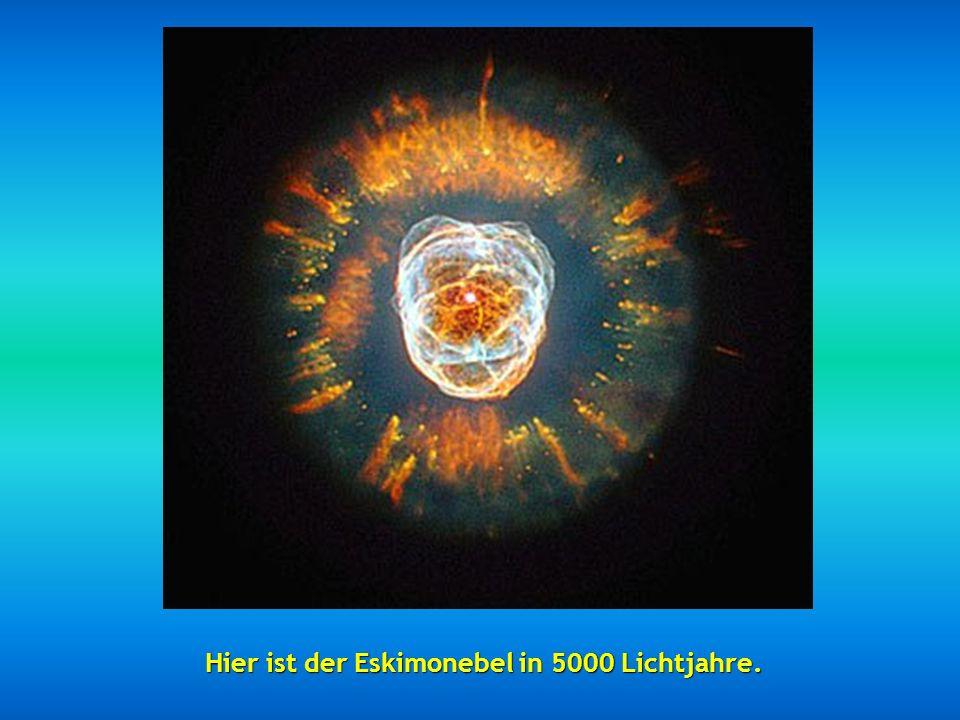 Dann haben wir den Ameisennebel – so genannt wegen seiner Form und in 3000 bis 6000 Lichtjahre gelegen.
