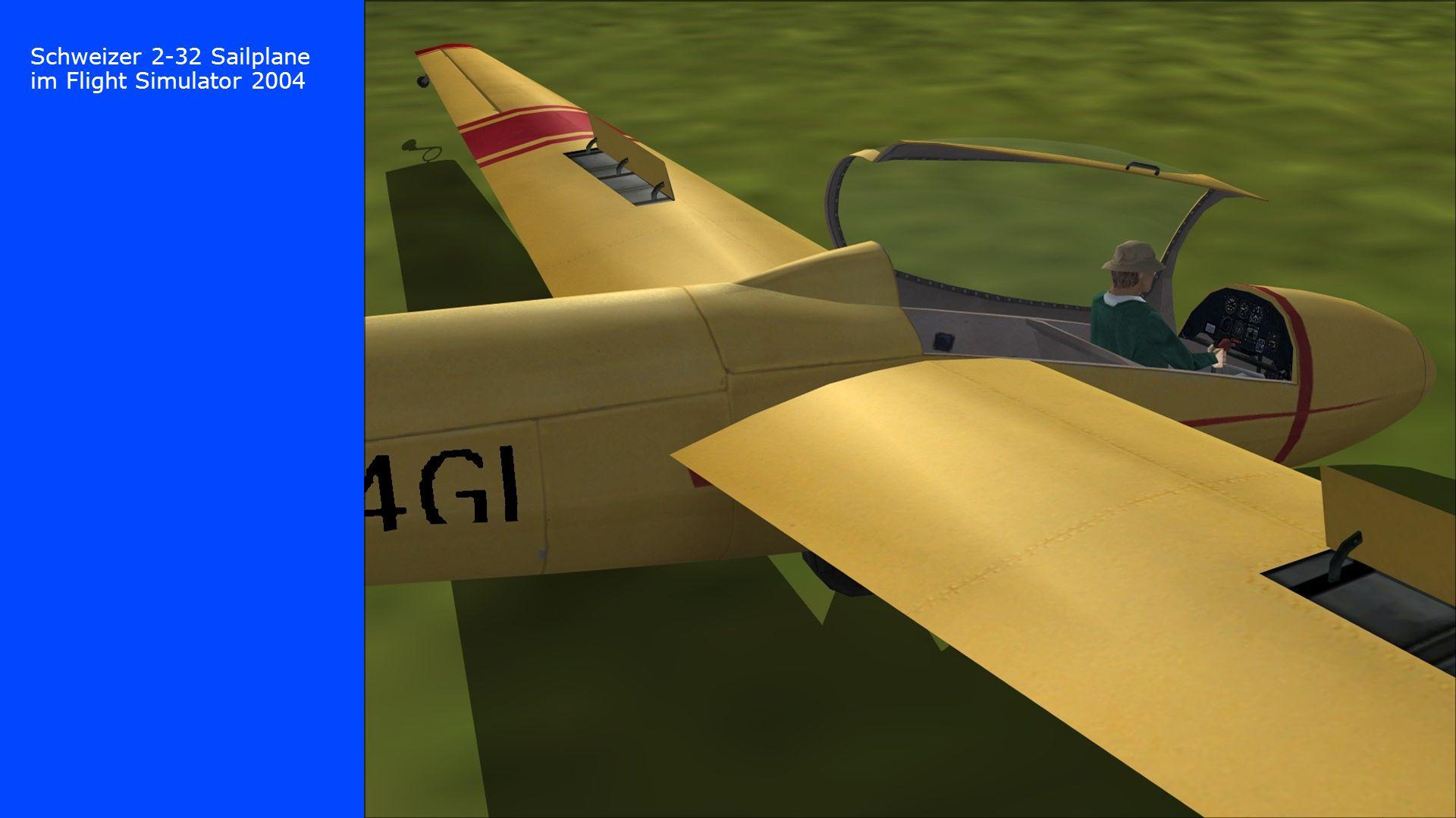 Schweizer 2-32 Sailplane im Flight Simulator 2004